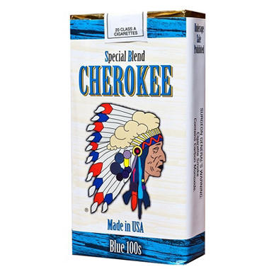 Cherokee Blue 100 Soft Pack 1 Carton
