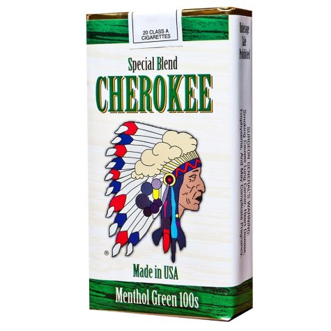 Cherokee Menthol Green 100s Soft Pack (20 ct., 10 pk.)