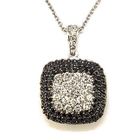 .75 ct. t.w. Black & White Diamond Pave Pendant (H-I, I1)