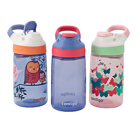 Contigo Gizmo Sip Autoseal 14 oz. Kids Water Bottles, 3 pk. (Assorted Colors)