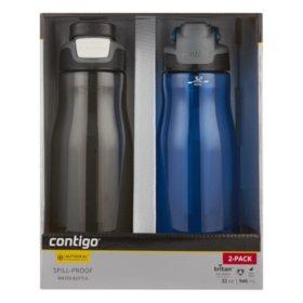 Contigo AUTOSEAL 32 oz. Leak-Proof Water Bottle, 2 Pack (Assorted Colors) - Sam's Club