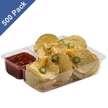 Gold Medal Heavy-Duty Plastic Nacho Trays, 5