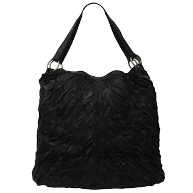 Sasha Pieced Leather Tote Bag - Black