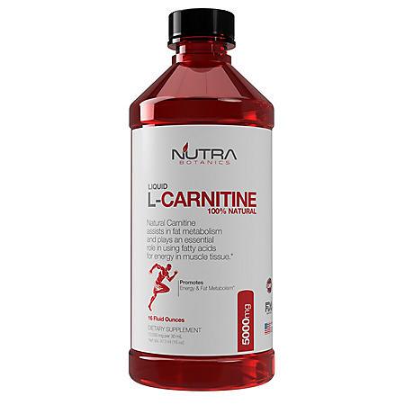 Nutra Botanics L-Carnitine 5000mg 16oz.