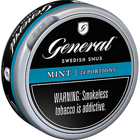 General Mint Portion Swedish Match (5 cans)