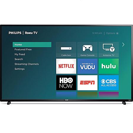 """Philips 55"""" Class 4K UHD Roku Smart TV w/ HDR - 55PFL4864/F7"""