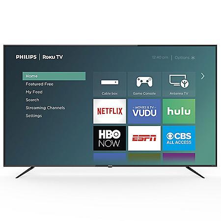 "Philips 75"" Class Roku Smart 4k UHD LED HDTV w/ HDR - 75PFL4864/F7"