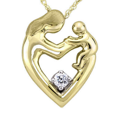 .10 ct. Diamond Mother's Heart Pendant (H-I, I1)