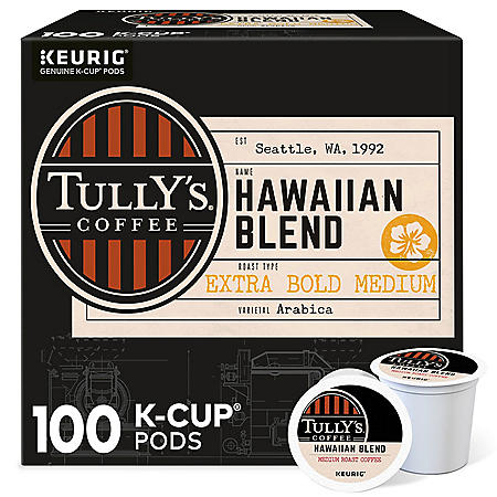 Tully's Coffee Hawaiian Blend K-Cup Pods (100 ct.)