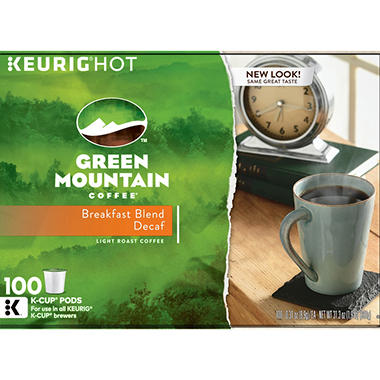 Green Mountain Coffee, Decaffeinated Breakfast Blend (100 K-Cups)