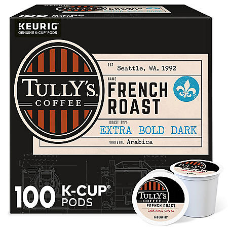 Tully's Coffee French Roast K-Cup Pods (100 ct.)