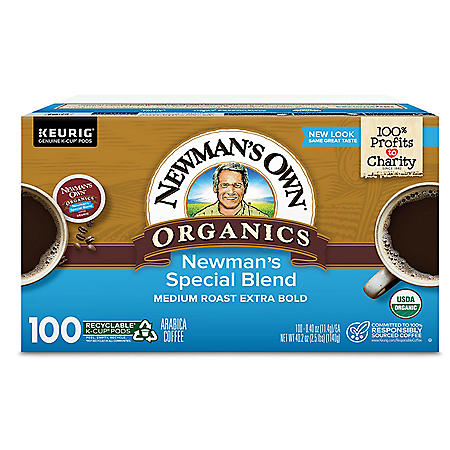 Newman's Own Organics Special Blend Coffee K-Cup Pods (100 ct.)