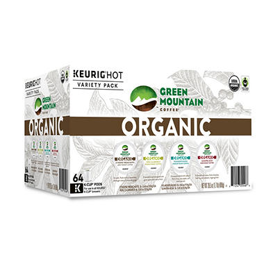 Green Mountain Coffee Organic Variety Pack (64 K-Cups)