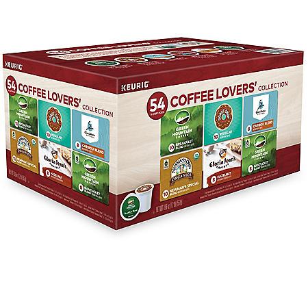 Keurig Coffee Lovers Single Serve K-Cup Pod Variety Pack (54 ct.)