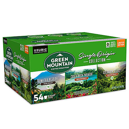 Green Mountain Coffee Single Origin K-Cup Pod, Variety Pack (54 ct.)