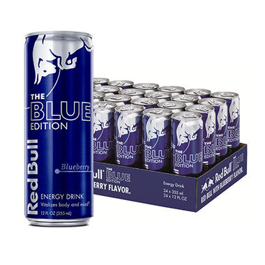 Red Bull Blue Edition, Blueberry Energy Drink (12 oz. can, 24 pk.)