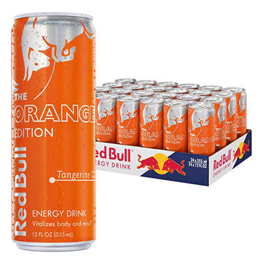Red Bull Orange Edition, Tangerine Energy Drink (12 oz. ea., 24 pk.)