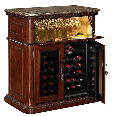36 Bottle Vintage Cherry Wine Cabinet Sam S Club