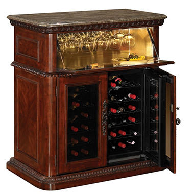 36 Bottle Vintage Cherry Wine Cabinet