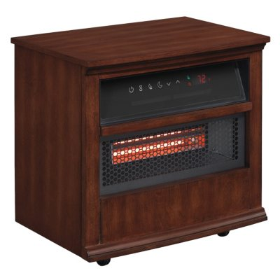 Twin Star International Portable Infragen Smart Heater With Safer Plug And  Safer Sensor, Walnut Brown