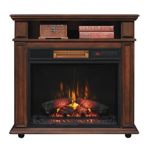 Twin Star Infragen Rolling Mantel Electric Fireplace