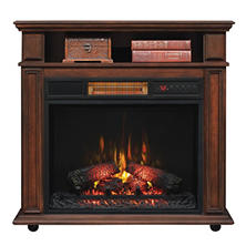Rolling Mantel with Infragen™ Electric Fireplace