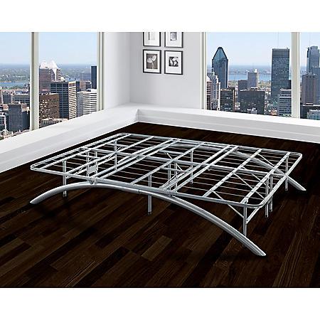 Arch Silver Decorative Metal Platform Bed