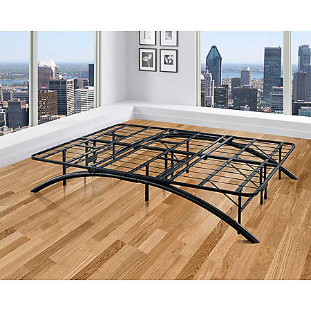 Arch Black Decorative Metal Platform Bed (Assorted Sizes)