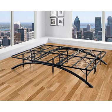 metal platform bed frame. Arch Black Decorative Metal Platform Bed (Assorted Sizes) Metal Platform Bed Frame