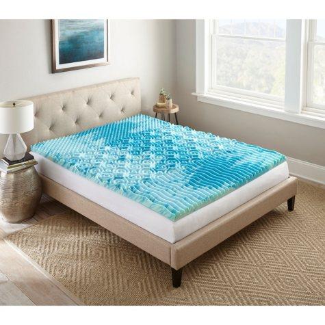 """Lane SleepLux Gel Memory Foam 2"""" Mattress Topper (Assorted Sizes)"""