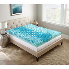 "Lane SleepLux Gel Memory Foam 4"" Mattress Topper (Assorted Sizes)"