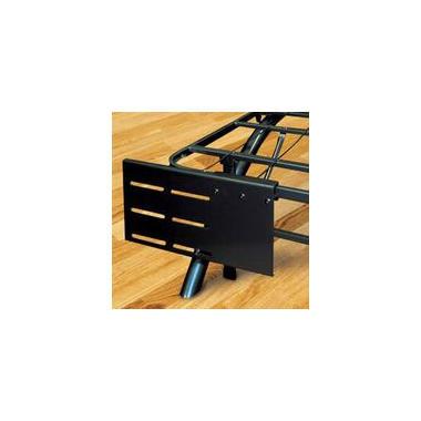 Adjustable Bracket Set For Arch Black Decorative Metal Platform Bed, 2 Piece