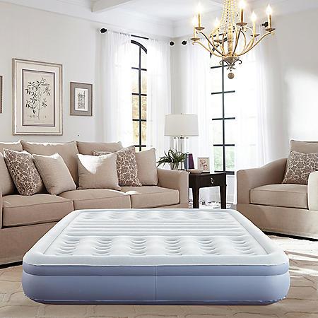 """Thomasville 12"""" Lumbar Lift Inflatable Air Bed Mattress, Queen"""