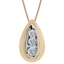 0.28 ct. t.w. Round Diamond Pendant in 14K Gold