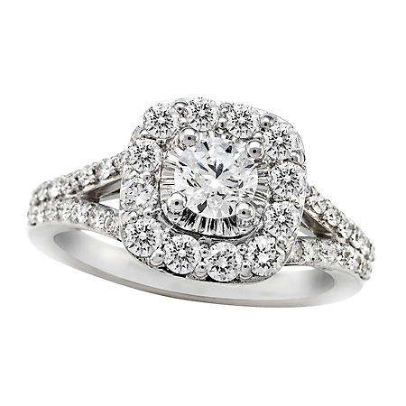 1.30 CT. T.W. Diamond Engagement Ring in 14K White Gold ( I, I1)