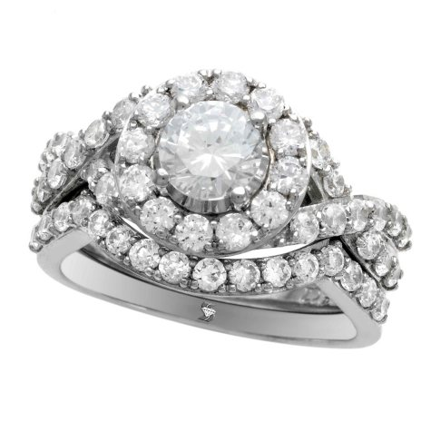 2.00 ct. t.w. Diamond Ring Set in 14K White Gold  (I,I1)