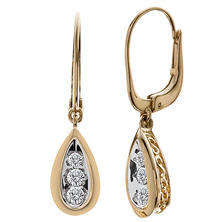 0.23 ct. t.w. Tear Drop Diamond Earrings in 14K Yellow Gold