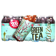 Arizona Green Tea, with Ginseng and Honey (16 oz. bottles, 28 pk.)