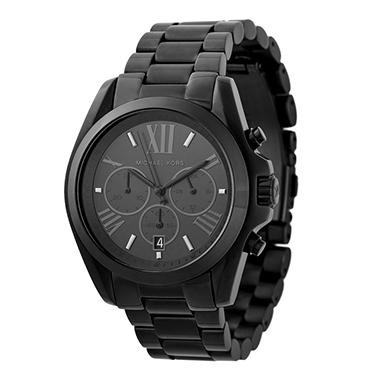 Unisex Bradshaw Black-Tone Watch by Michael Kors