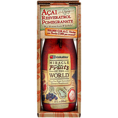 Drinkables Miracle Fruits of the World -6 pk/30 oz