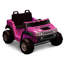 12V 2-Seater Pink Ride-on Hummer H2