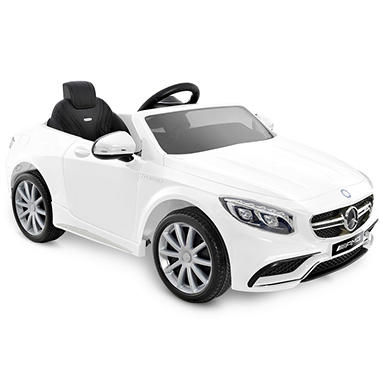 Mercedes Benz S63 AMG One-Seater 6-Volt Powered Ride-On (White)