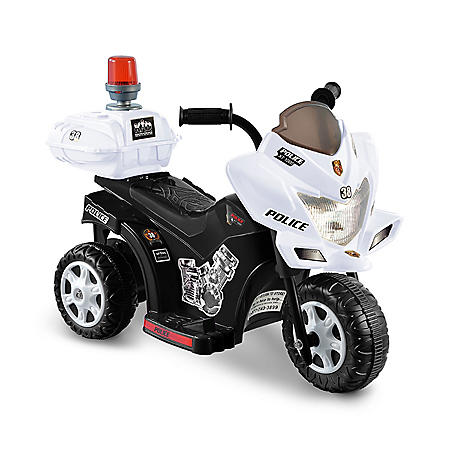 6V Black & White Lil Patrol Ride-on Police Motorcycle