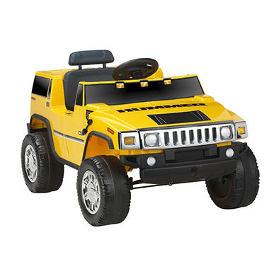 6V Hummer H2 Ride-On - Yellow