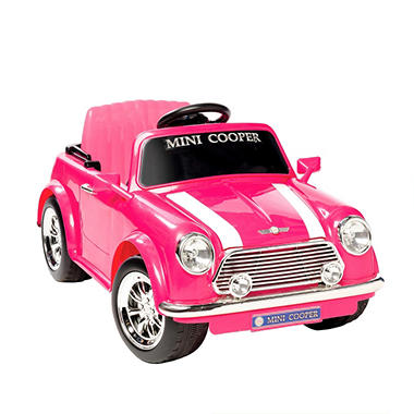 6V Mini Cooper Ride-On - Pink