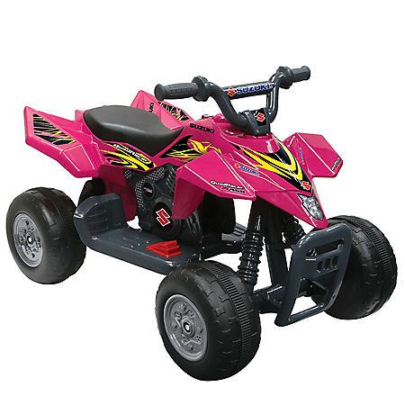 6V Pink Suzuki Quad Racer