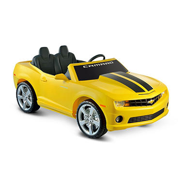 12V Chevrolet Racing Camaro Two Seater in Yellow
