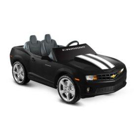 12V Black Chevrolet Ride-on Racing Camaro