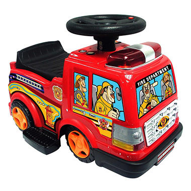 6V Ride-On Fire Engine