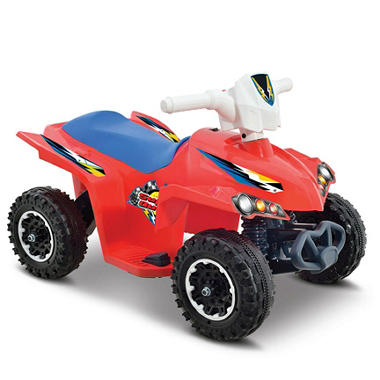 Super Quad 6-Volt Powered Ride-On (Red)